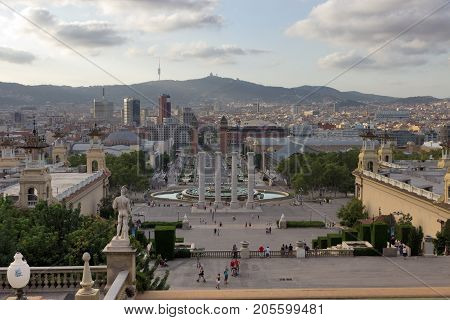Barcelona City And Plaza Espanya