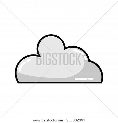 grayscale nice cloud natural weather design vector illustration