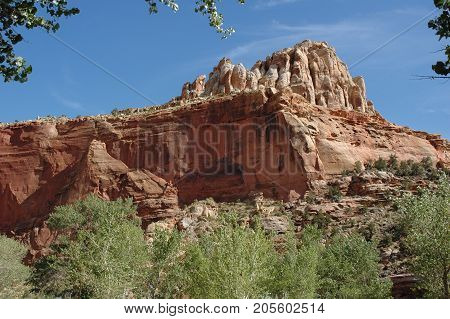 Rugged landscape of Capitol Reef National Park, Utah