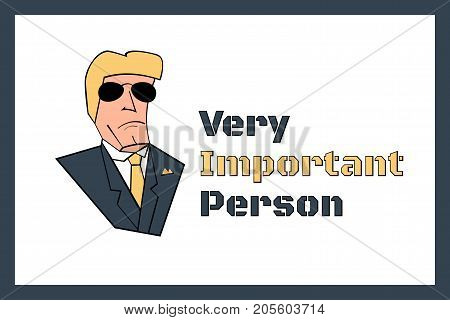 Very Important Person VIP sign vector template