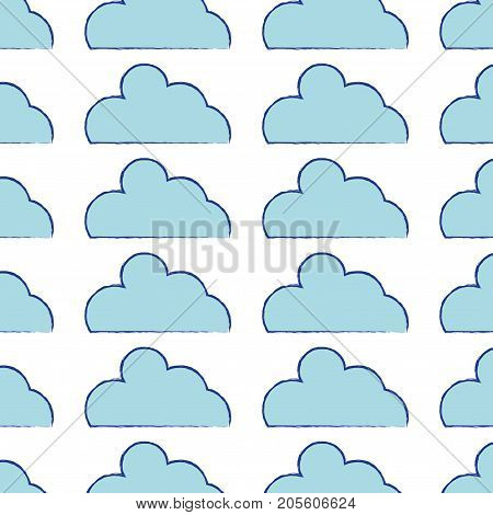 nice cloud natural weather background design vector illustration