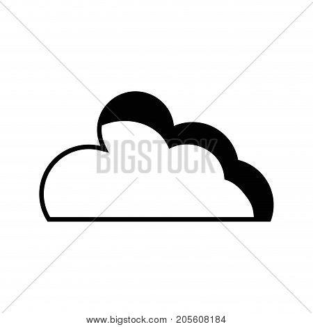 contour nice cloud natural weather design vector illustration