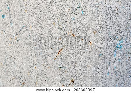 Metal Texture With Cracked Paint