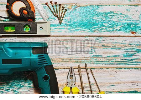 Hand And Electric Work Tools Set