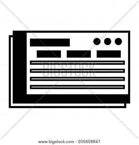 contour bank check to finance economy icon vector illustration