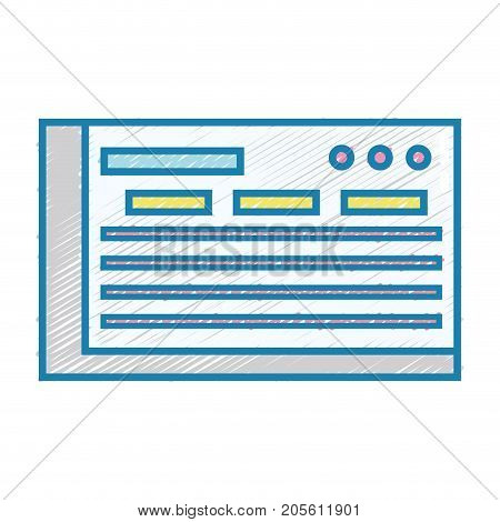 bank check to finance economy icon vector illustration