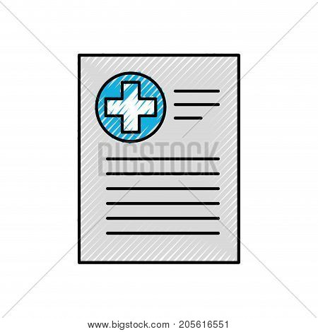 patient file icon medical report analysis diagnosis symbol vector illustration
