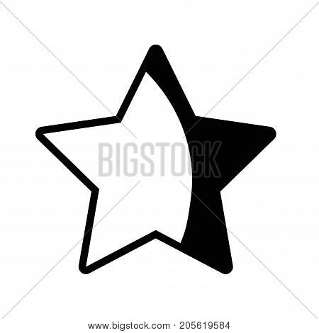 contour rating star symbol and element status vector illustration