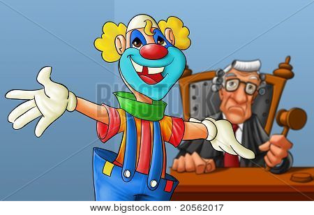 Clown In The Court