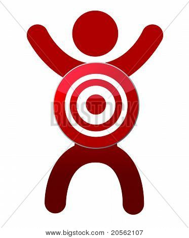 human target illustration design isolated over a white background