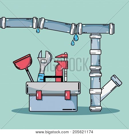mechanic repair service and industry construction vector illustration