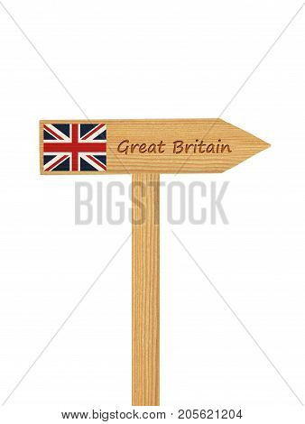 Direction Sign To Great Britain