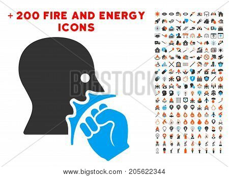 Face Violence Strike icon with bonus fire graphic icons. Vector illustration style is flat iconic symbols for web design, app user interface.