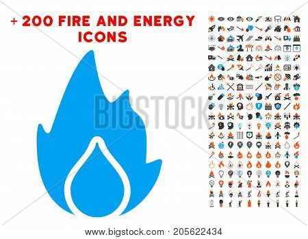 Fire And Water Drop icon with bonus power images. Vector illustration style is flat iconic elements for web design, application user interface.