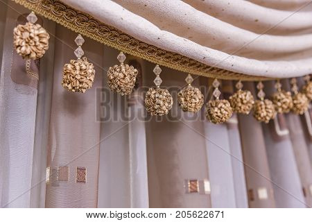 Brown curtain background Curtain Curtain Brown classic