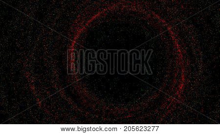 Abstract background with spinning small particles. 3d rendering