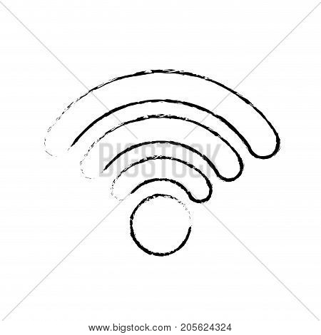 figure wifi connection network digital symbol vector illustration