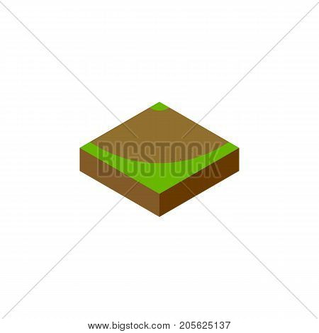 Turn  Vector Element Can Be Used For Turn, Sand, Road Design Concept.  Isolated Sand Isometric.