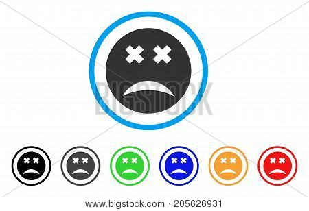 Blind Smiley icon. Vector illustration style is a flat iconic blind smiley symbol with black, grey, green, blue, red, orange color versions. Designed for web and software interfaces.