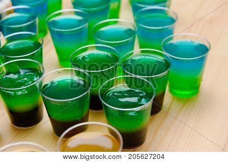 Alcohol Jelly Shots, Funny Party Treat, Layered Shots