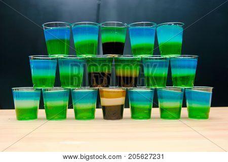 Alcohol Jelly Shots, Funny Party Treat, Layered Shots