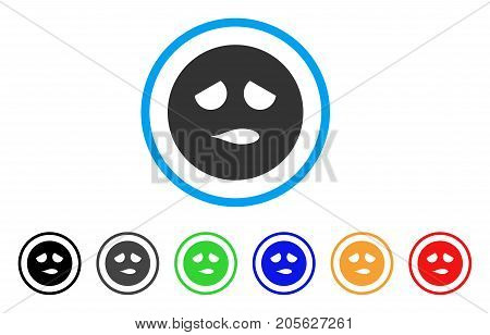 Disturb Smiley icon. Vector illustration style is a flat iconic disturb smiley symbol with black, grey, green, blue, red, orange color variants. Designed for web and software interfaces.