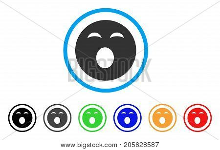 Sleepy Smiley icon. Vector illustration style is a flat iconic sleepy smiley symbol with black, gray, green, blue, red, orange color variants. Designed for web and software interfaces.