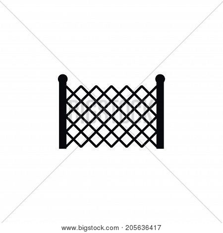 Gate Vector Element Can Be Used For Lattice, Fence, Gate Design Concept.  Isolated Lattice Icon.