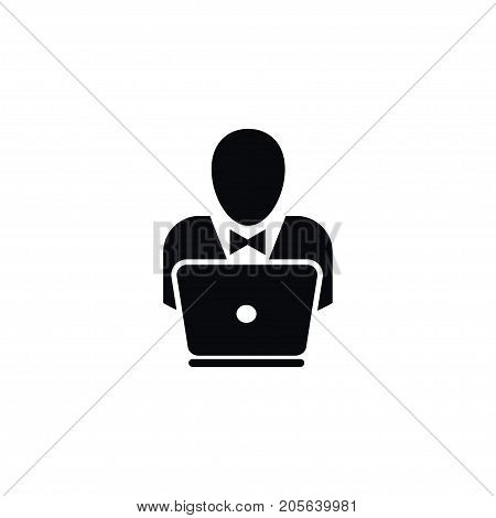 Notebook Vector Element Can Be Used For Hacker, Notebook, Programming Design Concept.  Isolated Hacker Icon.
