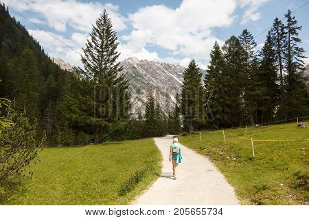 Walk in the Italian Alps near Lago di Braies