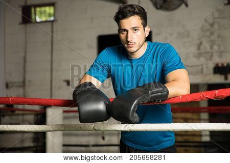Young Man In A Boxing Ring