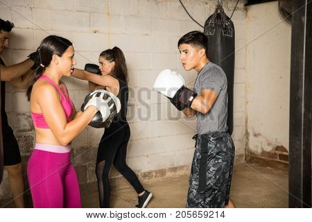 Practicing Punches With A Partner