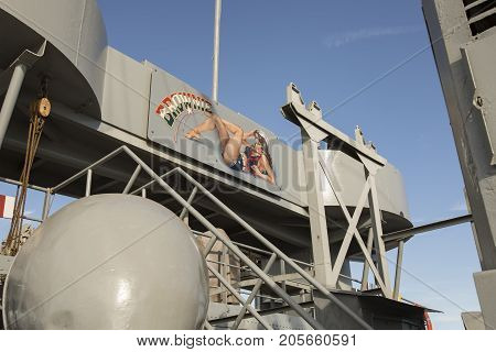 Uss John W Brown Liberty Ship Art On Deck