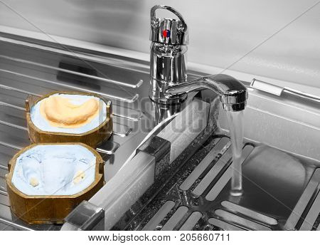 manufacture of molds for dentures in laboratory water wash faucet mixer