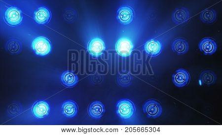 Lights Flashing Spotlight Wall Stage Led Blinking Chromlech Club Concert Dance Disco Dj Matrix Beam