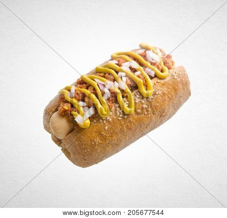Hot Dog Or Sausage Hot Dog On A Background.