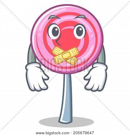 Silent cute lollipop character cartoon vector illustration