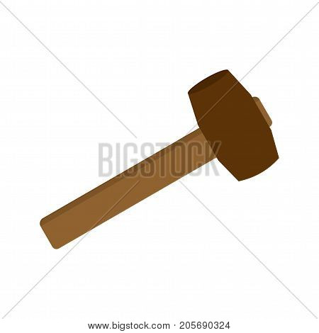 Mallet, wooden, rubber icon vector image. Can also be used for Hand Tools. Suitable for mobile apps, web apps and print media.
