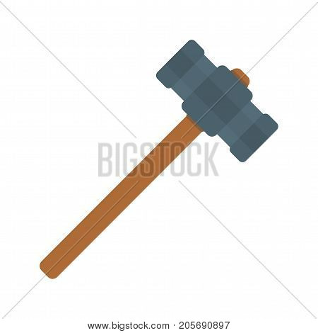 Hammer, sledge, power icon vector image. Can also be used for Hand Tools. Suitable for use on web apps, mobile apps and print media.