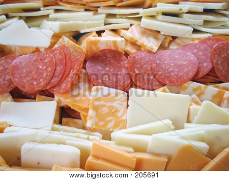 Pepperoni And Cheese Platter