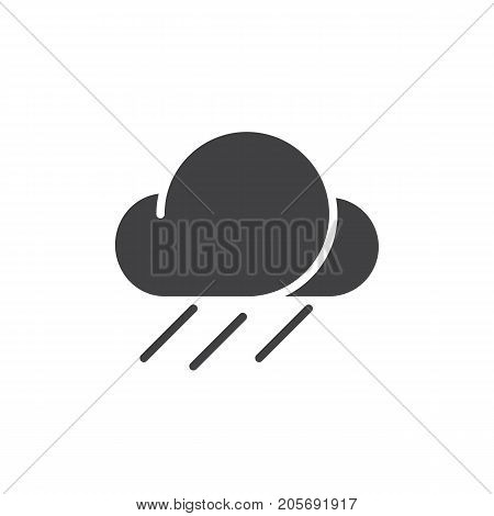 Rainfall icon vector, filled flat sign, solid pictogram isolated on white. Symbol, logo illustration.