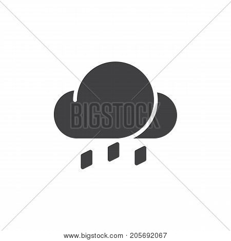 Hail icon vector, filled flat sign, solid pictogram isolated on white. Symbol, logo illustration.