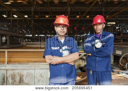 Padaeng industry Mae Sot Tak Thailand February20 2013 : Zinc mine. Engineer in factory mining.
