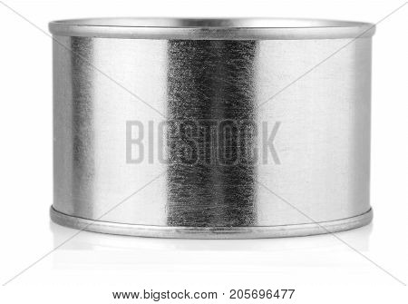 Cover tin isolated on white background .