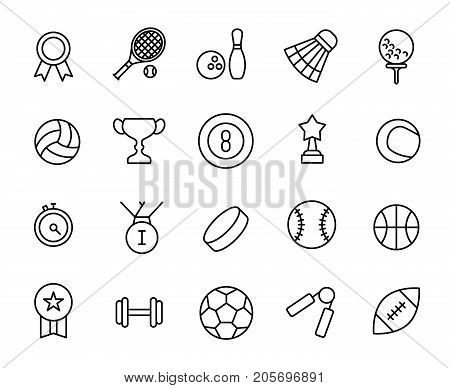 Premium set of sport line icons. Simple pictograms pack. Stroke vector illustration on a white background. Modern outline style icons collection.