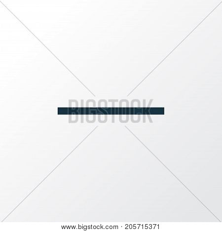 Premium Quality Isolated Remove Element In Trendy Style.  Minus Outline Symbol.