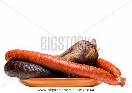 Variety Of Spanish Pork Sausages