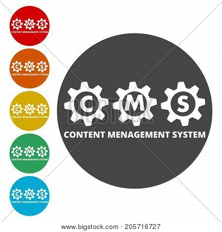 CMS Settings Icon, Vector & Photo (Free Trial) | Bigstock