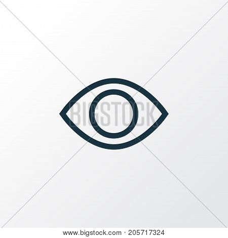 Premium Quality Isolated Show Element In Trendy Style.  Eye Outline Symbol.