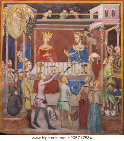 Fresco In San Gimignano - Story Of Job